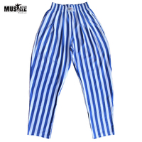 MUSCLE ALIVE Men Bodybuilding Pants Fitness Male Sportswear Loose Trouser Brand Clothing Workout For Man Cotton Elastic Waist XL