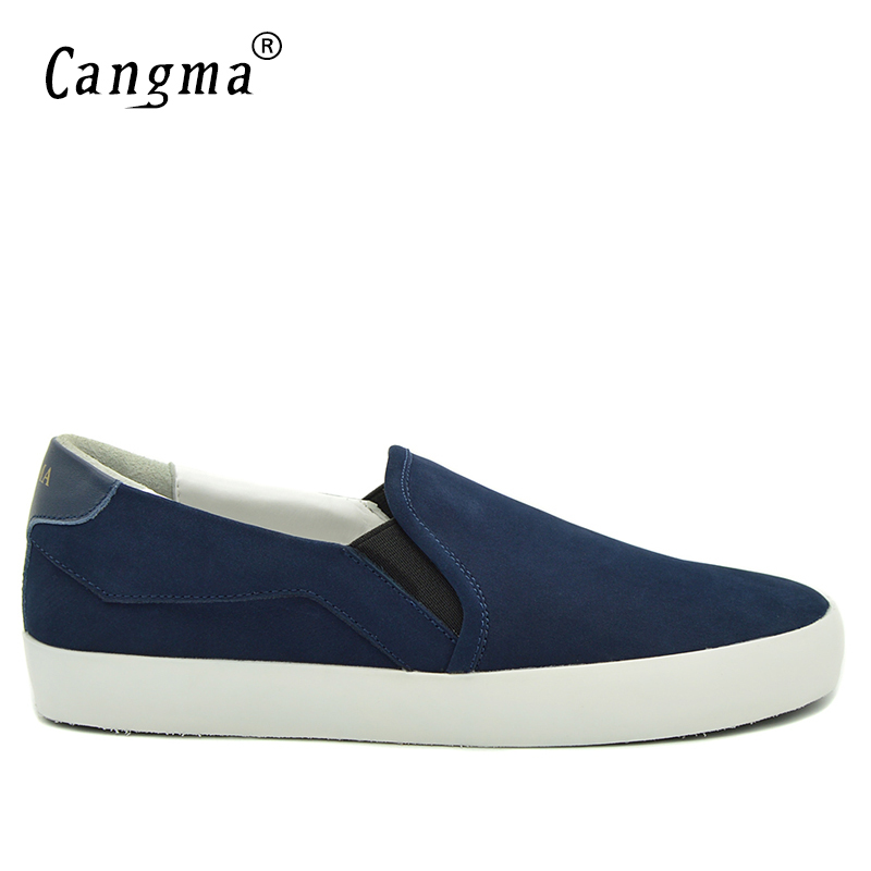 CANGMA Brand Sneakers Men Loafer Casual Shoes Marque Male Genuine Leather Slip On Cow Suede Autumn Fashion Designer Shoes Man top brand high quality genuine leather casual men shoes cow suede comfortable loafers soft breathable shoes men flats warm