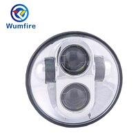 5.75 LED Motorcycle Headlight Black For Sportster Motorbike Headlight Universal Headlamp For A Moto WF 5.7R 001