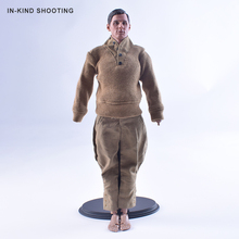 1/6 Scale Mens Soldier Clothing Accessories Model Dark khaki Sweater+1:6 Trousers Dragon WWII German DML Breeches/Pants Body