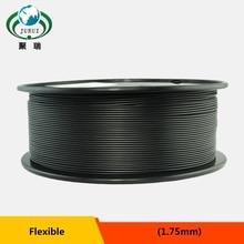 1kg 1.75mm black flexible filament, Flex filament, rubber filament for 3d printer