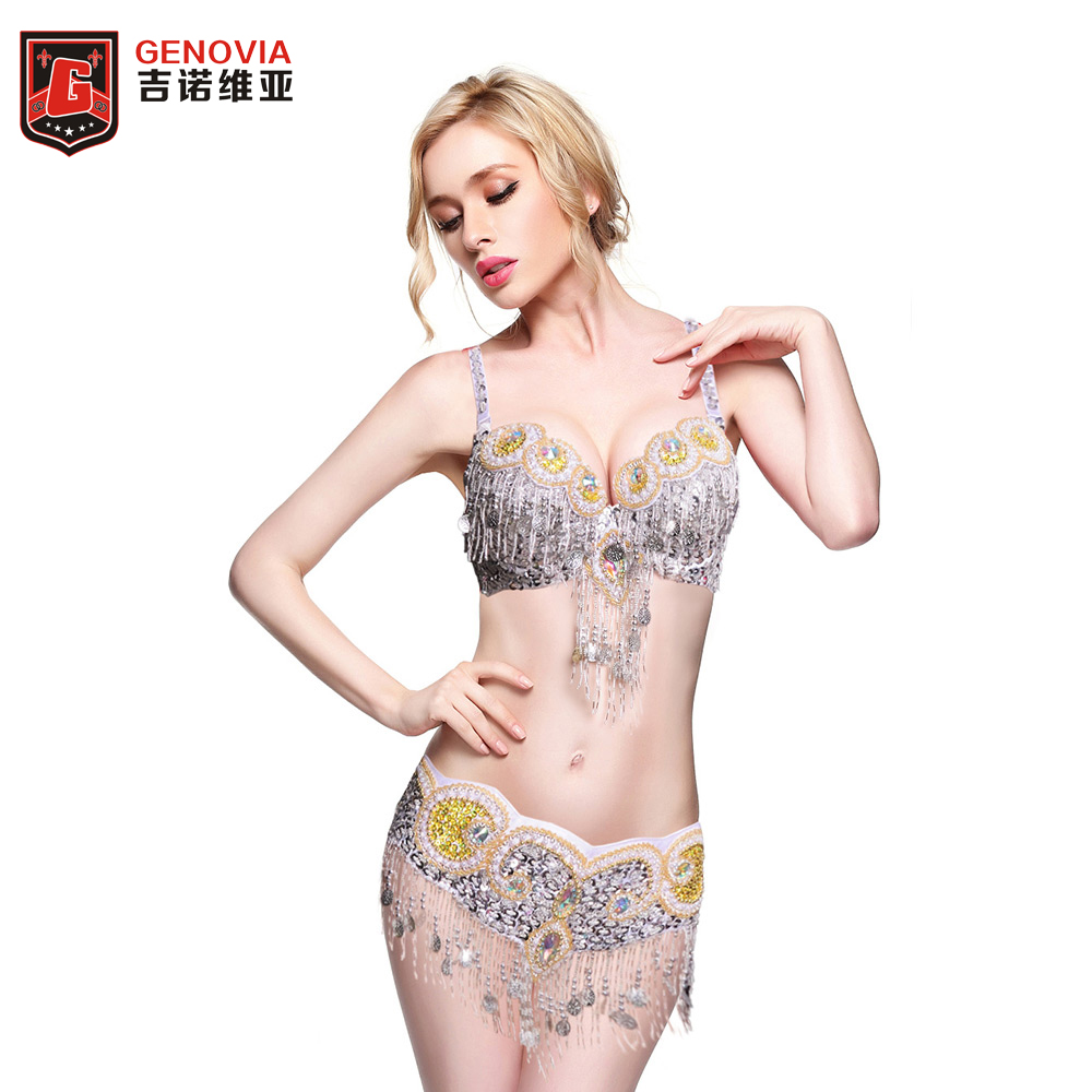 New Arrival 2018 women Ladies belly dance costume set beaded new Samba dancing suit stage dance wear