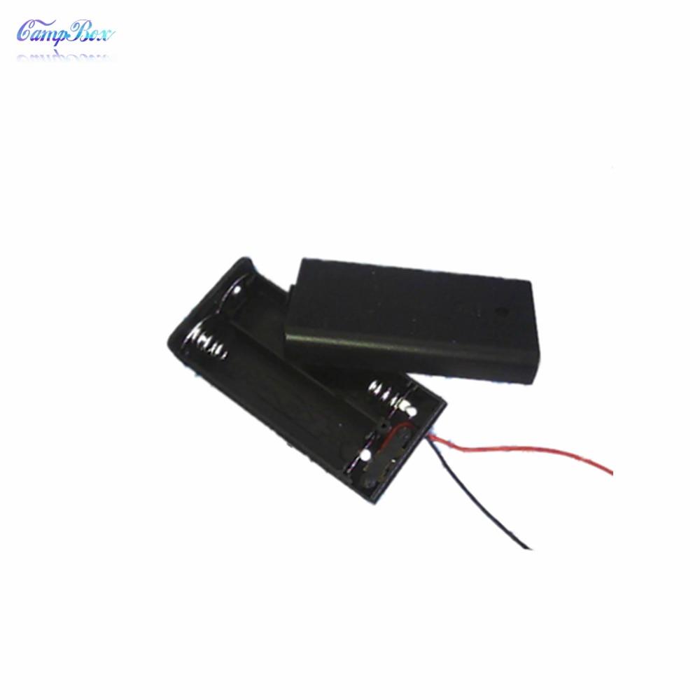10pcs 2xaa battery case holder socket wire junction boxes. Black Bedroom Furniture Sets. Home Design Ideas