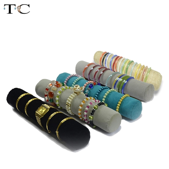5 Color 32cm Jewelry Roll Bag Jewelry Organizer Bracelets Display