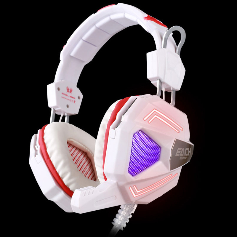ФОТО Colorful Breathing USB Stereo Gaming Headset EACH G5200 7.1 Surround Sound Earphones & Headphones With Mic For Computer Game