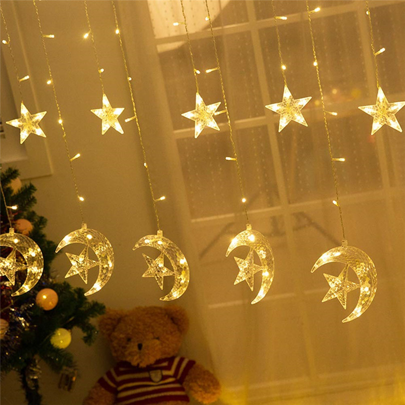 moon star christmas lights detail  (2)