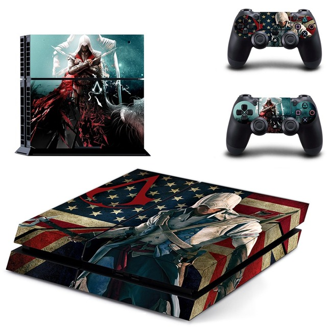 ASSASSINS CREED PS4 Skins Designer Sticker for Sony PlayStation 4 Console System plus Two Decals for PS4 Dualshock Controller