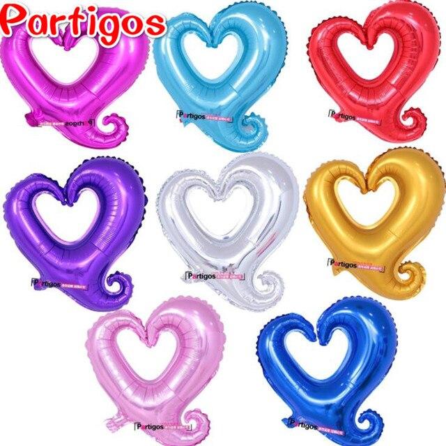 10 unids/lote gancho en forma de Corazón de 18 pulgadas hoja hincha ...