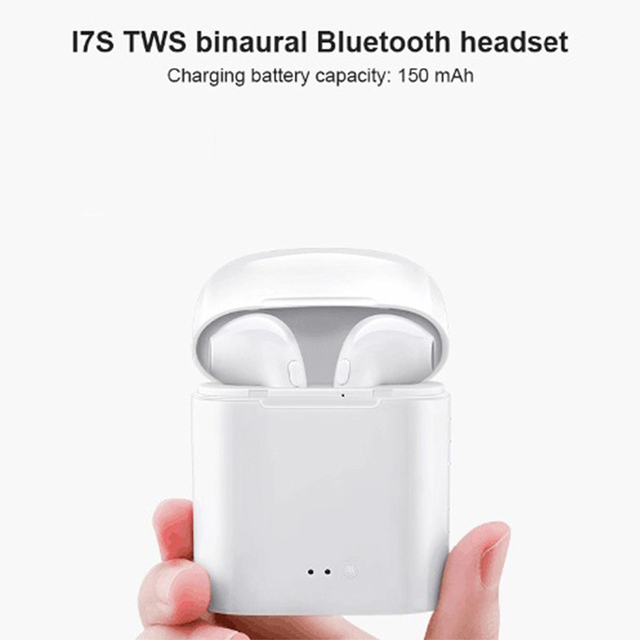 I7s TWS Bluetooth Earphone Stereo Earbud Bluetooth Headset with Charging Pod Wireless Headsets for All Smart Phone 2