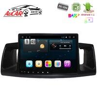 Aucar 9 inch 2 din car radio GPS navi for Toyota Corolla EX 2013 2016 2 din Android radio auto multimidia cassette player