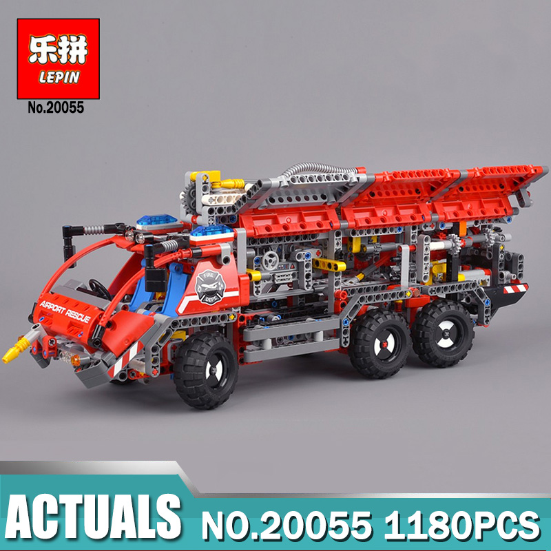 Lepin Building Blocks toys 20055 City Rescue Vehicle compatible Legoinglys Technic Series 42068 Educational DIY toys hobbies lepin technic 20055 the rescue vehicle set 1180pcs building blocks toys for children bricks compatible legoing technics 42068