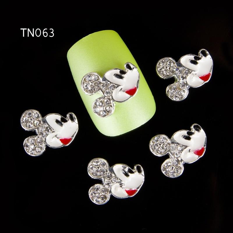 Blueness 10 Pcs/Lot 3D Mickey Mouse Nail Art Decorations Black Strass Charms Rhinestones For Nails DIY Beauty Manicure TN063 t703 mickey d vjcrdt