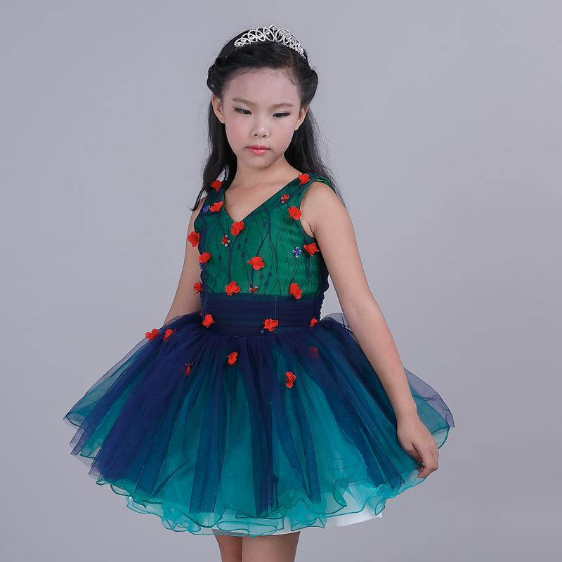 Girl Children Clothing Brand Clothes Kids Dress   Princess Holiday Party Wedding Toddler  summer dresses az33 girls dress summer 2017 ball gwon girl children clothing brand clothes solid kids for princess party wedding toddler dresses