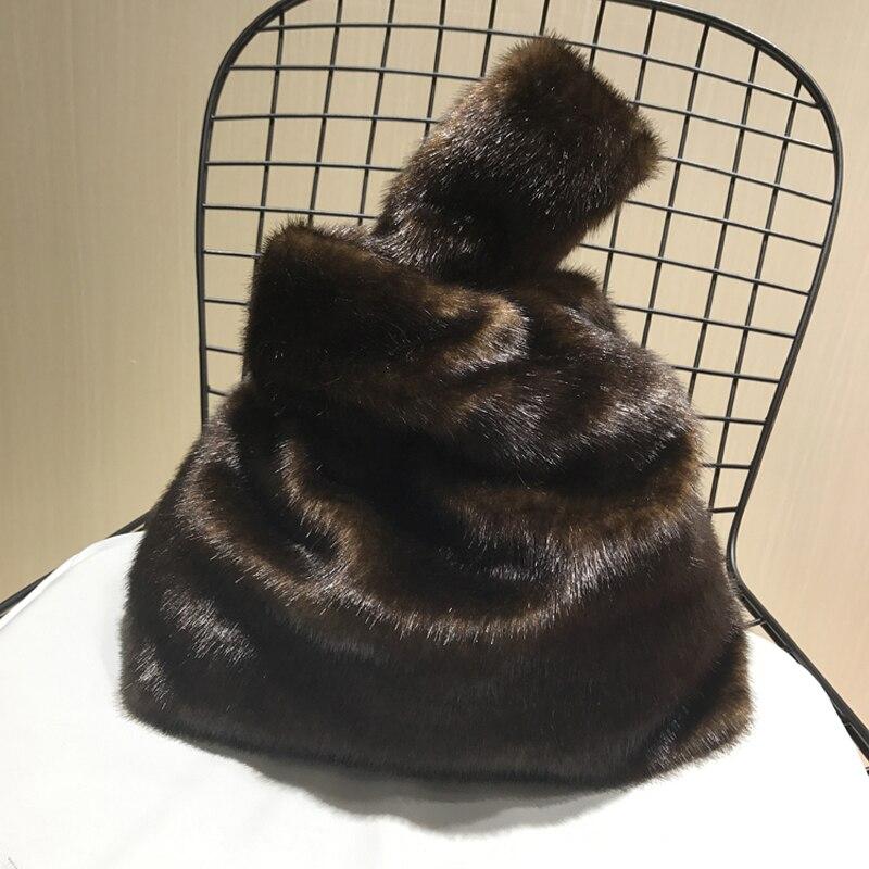 2018 New Europe and America Brand Fashion Women Bag Faux Fur Female Handbag Mink Fur Wome's Big Casual Totes For Girls 250 цена