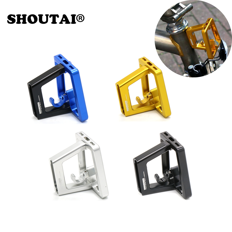 Bicycle Ultra-Light Aluminum alloy  Rack Bike Bag Bracket For Brompton Folding Cycling Bike Parts new titanium tc4 refitted single left quick release bicycle pedal spindles axles 77 3g pair for folding brompton bike pedals
