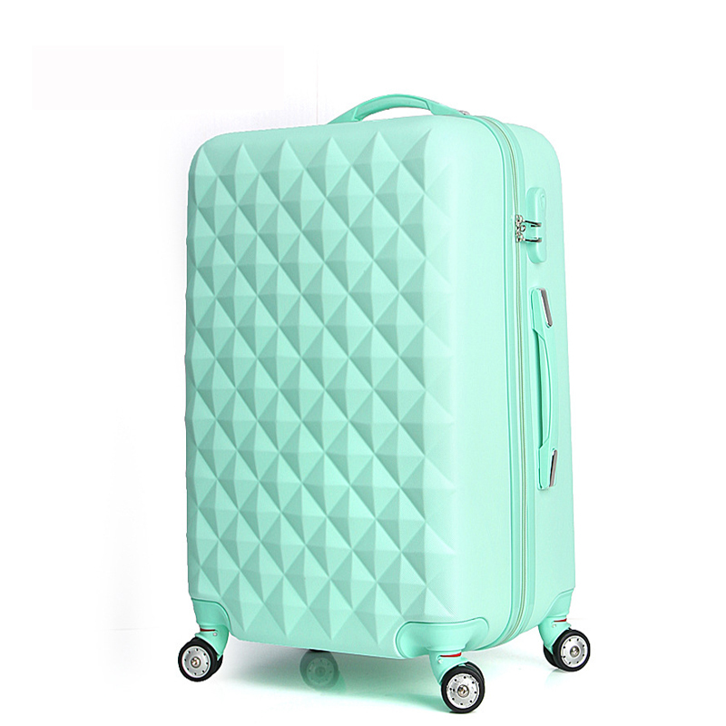 20 High quality Diamond lines Trolley suitcase /travell case luggage/Pull Rod trunk rolling spinner wheels/ ABS+PC boarding bag
