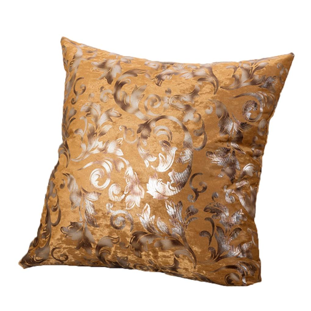 Silver Stamping Pillow Case Cotton Sheet Throw Pillow Cushion Cover Pillowslip
