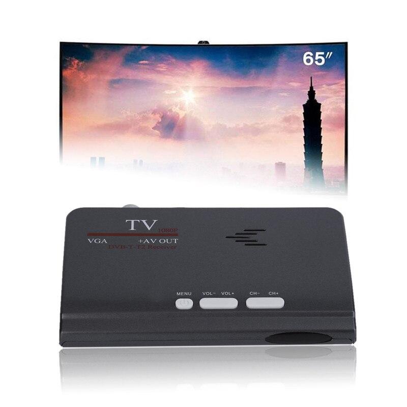 Ad alta definizione TV Box 1080 p HUB DVB-T2 Ricevitore TV TV BOX Set-top Box Digitale Terrestre Ricevitore Satellitare per la TV con VGA