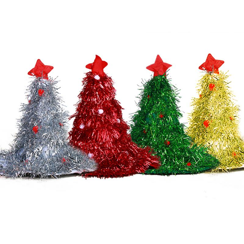 Christmas Tree Hats: Christmas Tree Hat Party Dress Up Cap Hat Christmas West