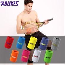 12 цветов, 2 размера, для спортзала, йоги, хлопковые напульсники против пота, спортивные Напульсники, поддержка запястья, Напульсник для тенниса, бадминтона, бега, 1 шт