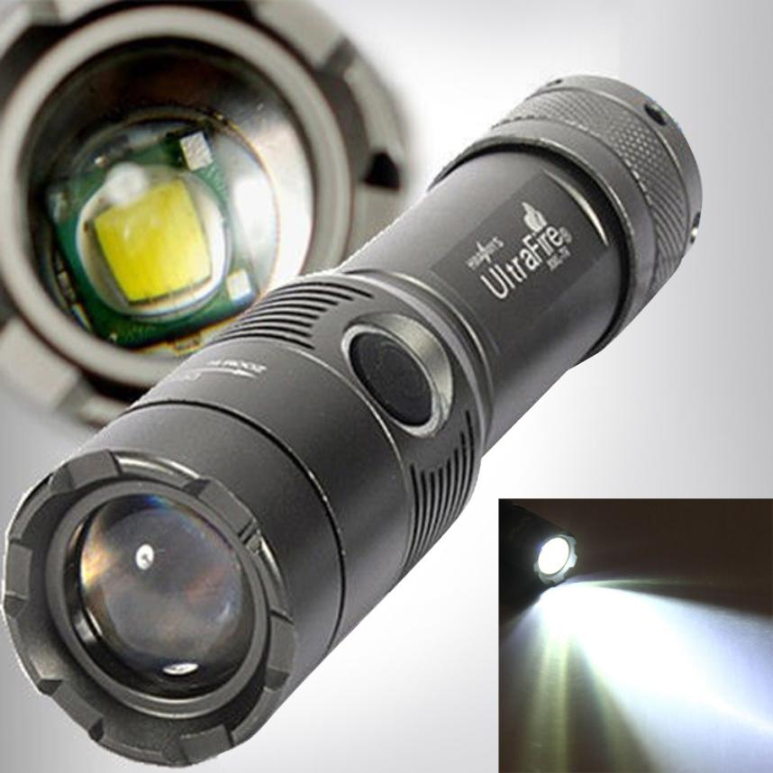2017 NEW 3000Lm UltraFire CREE XML T6 LED Zoomable 18650 AAA Flashlight Torch Light Lamp A89 фонарик ultrafire cree xml t6 cree xml t6 zoomable 2000lm 2 18650 dc fl028b bt021