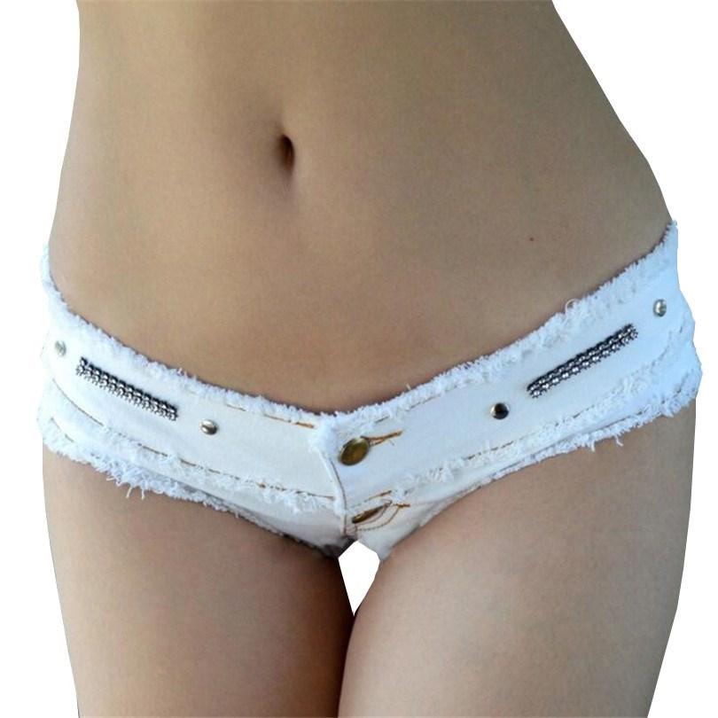 CUHAKCI Summer Denim Shorts Hot Sale Jeans Short Sexy Low Waist Tassel Micro White Mini Denim Shorts Women Shorts S M L