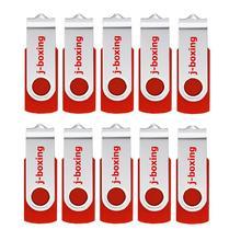 J-boxing Red 32GB USB Flash Drive Metal Swivel Memory Stick Rotating Pen Drive Thumb Storage 1GB 2GB 4GB 8GB 16GB 10PCS/Pack цена и фото