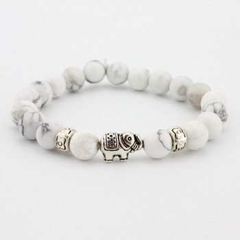 Natural Stone Bead Buddha Bracelets  For Women Men Jewelry