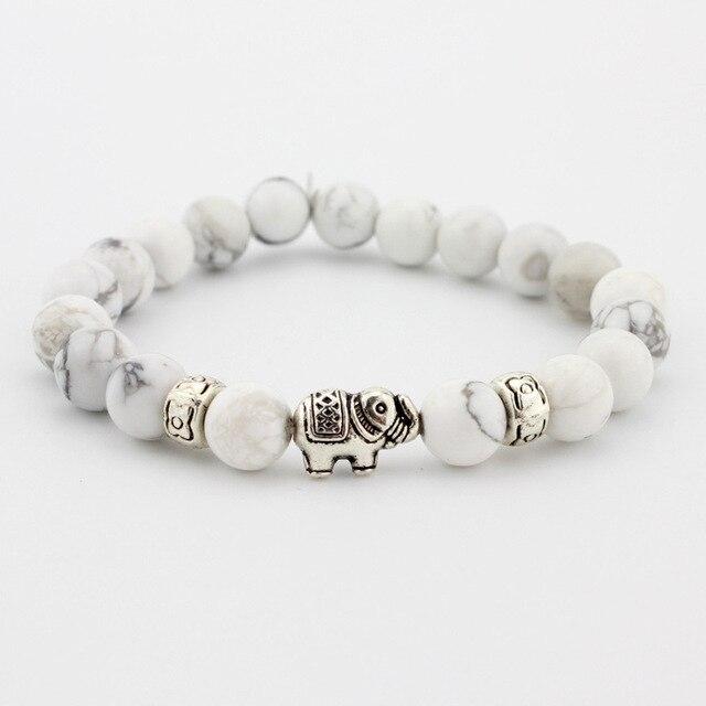 אבן טבעית חרוז לתכשיטי גברים נשים שחור לבה Druzy בודהה צמידי מתנת פיל צמידי Pulseras