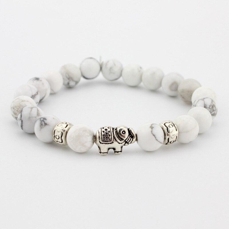 Natural Stone Bead Buddha Bracelets For Women Men Jewelry Black Lava Druzy Gift Bracelets Elephant Bangles Pulseras