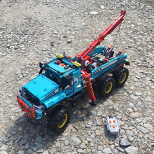 20056 1912pcs technic ultimate all terrain 6x6 remote control rc truck electric building block compatible 42070 bricks Toy(China)