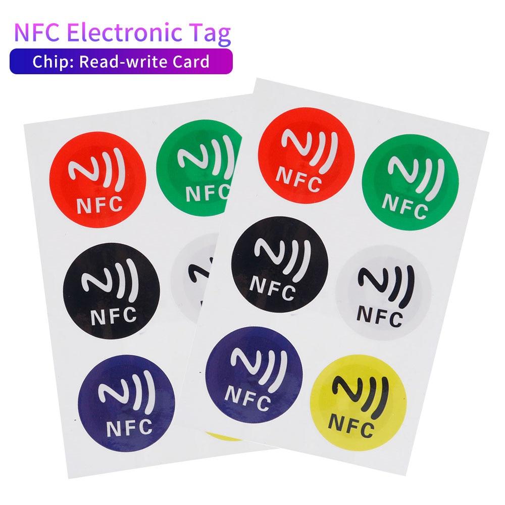 6 pcs/Lot nouvelles étiquettes NFC autocollants NTAG213 NFC étiquettes RFID étiquette adhésive autocollant étiquette universelle Ntag213 RFID étiquette pour tous les téléphones NFC
