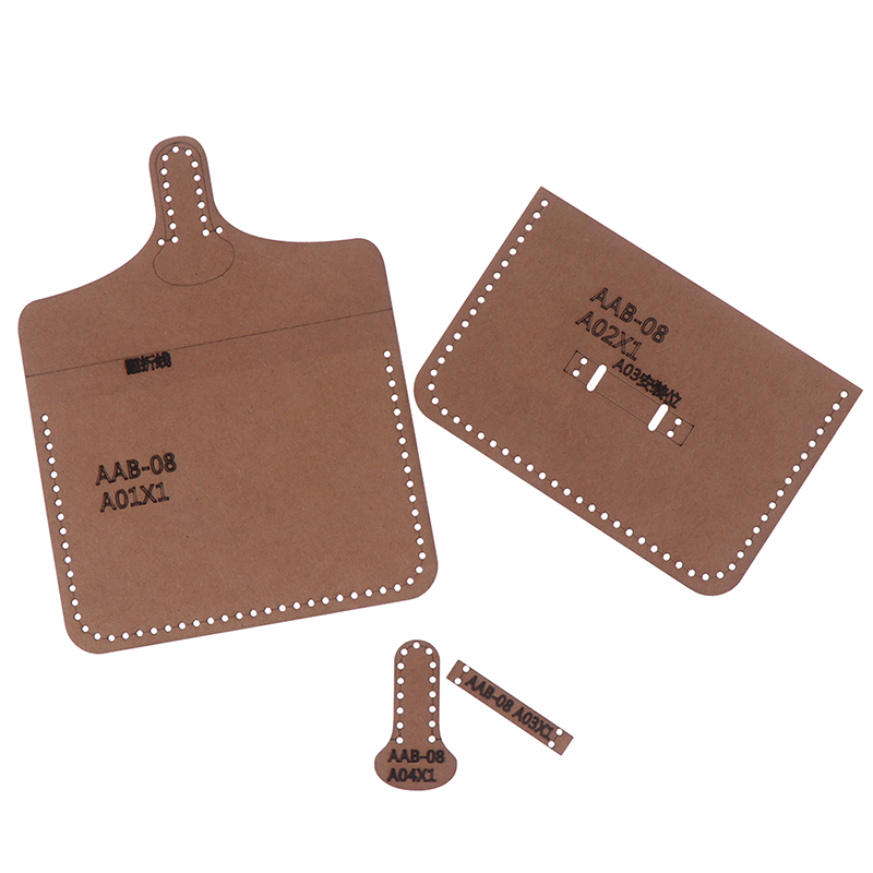 1set Hard Kraft Paper Stencil Template For DIY Leather Handmade Craft Women Handbag Shoulder Bag Sewing Pattern(China)