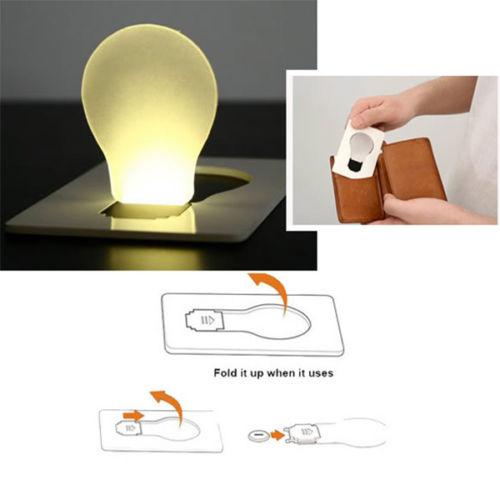 2019 Portable Mini Lighting Wallet Card Pocket Led Card Night Light Lamp Creative