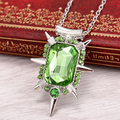 2 Color Freeshipping Oz the Great and Powerful Jewelry Glinda Necklace Green Rhinestone Pendants  necklace