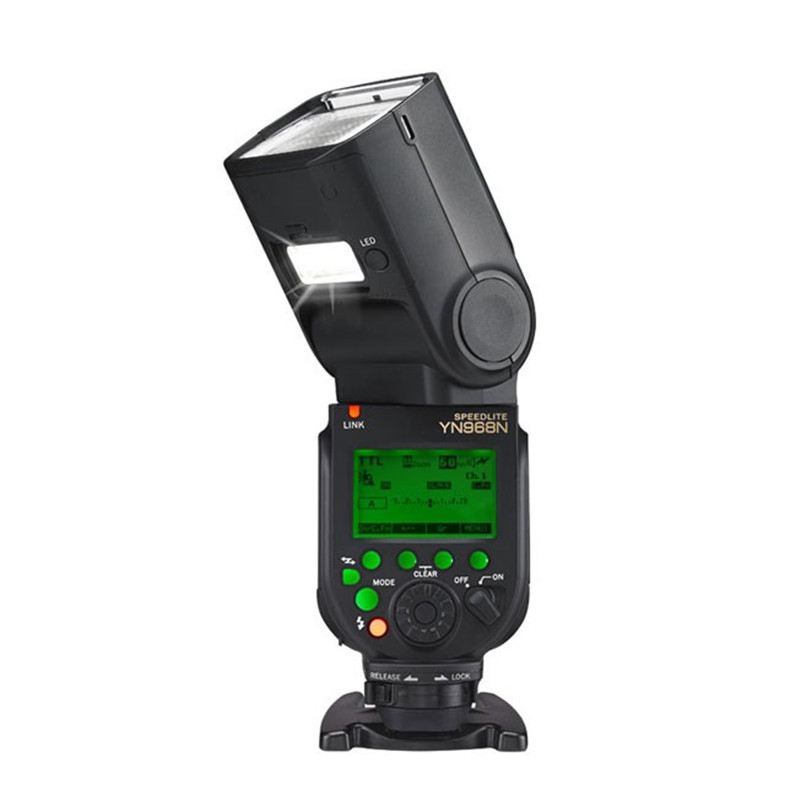цены YONGNUO YN968N Wireless Flash Speedlite Equipped with LED Light YN968 TTL Flash for Nikon DSLR Camera Fit YN622N YN560-TX RF603