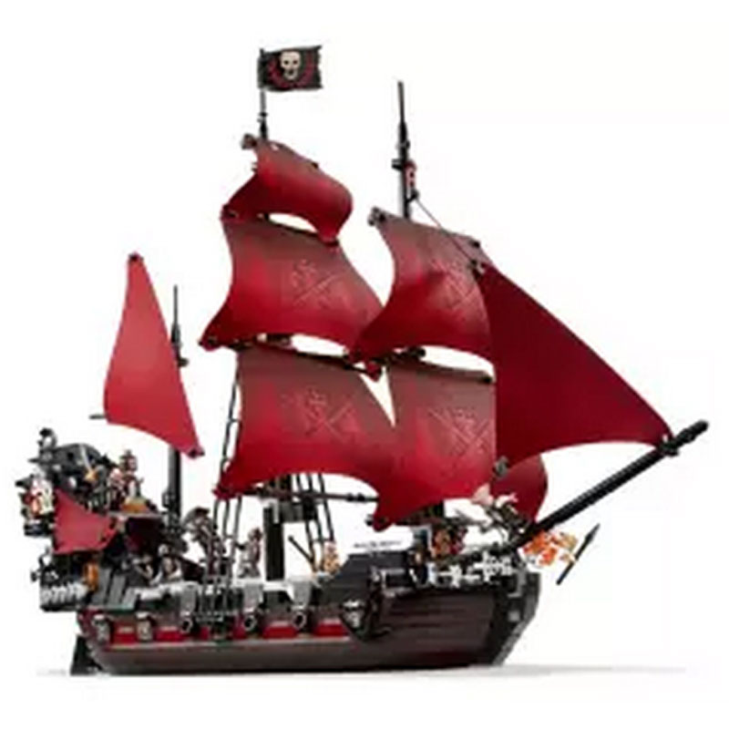 New LEPIN 16009 1151pcs Queen Anne's revenge Pirates of the Caribbean Building Blocks Set Compatible with 4195 Children DIY gift 1717pcs new 22001 pirates of the caribbean imperial flagship diy model building blocks big toys compatible with lego