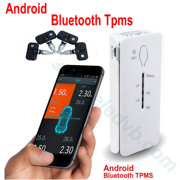 TPMS /Free shipping Bluetooth TPMS Wireless Car Tire