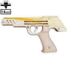 3D деревянные головоломки образовательные игрушки окружающей среды сборная игрушка развивающие игры для детей подростков взрослых пистолет с резиновой лентой