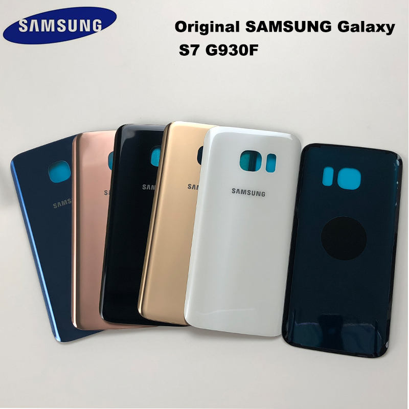 SAMSUNG Rear-Door-Housing-Case Battery-Cover Glass G935F Back S7 G930f/s7-Edge Galaxy