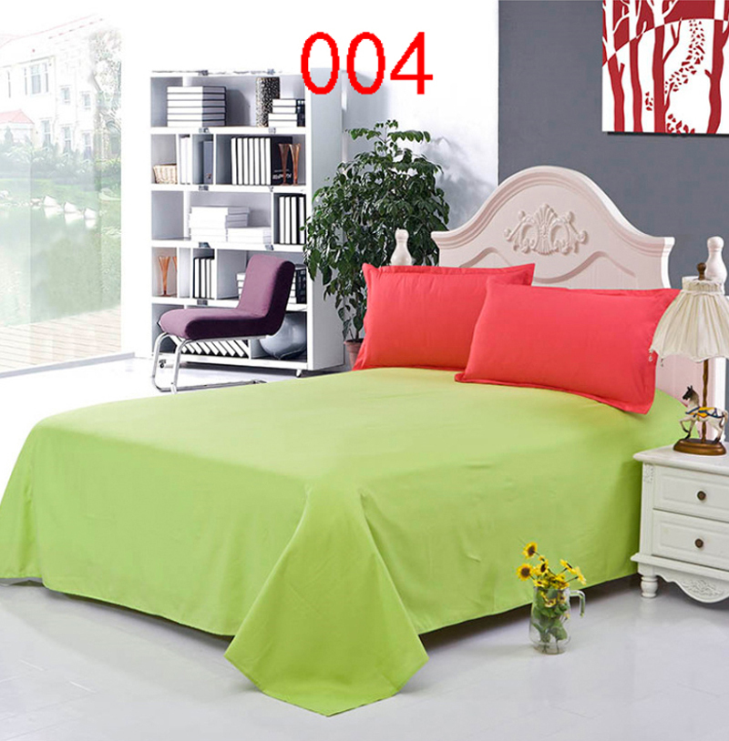 Apple Green Polyester Twin Full Queen  Bed Linens Bed Sheet Bedding Bedclothes Bedsheet Single Double Flat Bed Sheets Bedroom