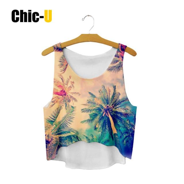 Chic u cultivos tops mujeres 2016 algodón Mezcla color oro playa ...