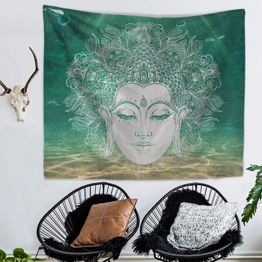 Image 5 - Mandala Hand of Fatima Printing Wall Tapestry Hanging Beach Towel Boho Dorm Decor Home Witchcraft Celestial Sun Moon Blanket-in Tapestry from Home & Garden