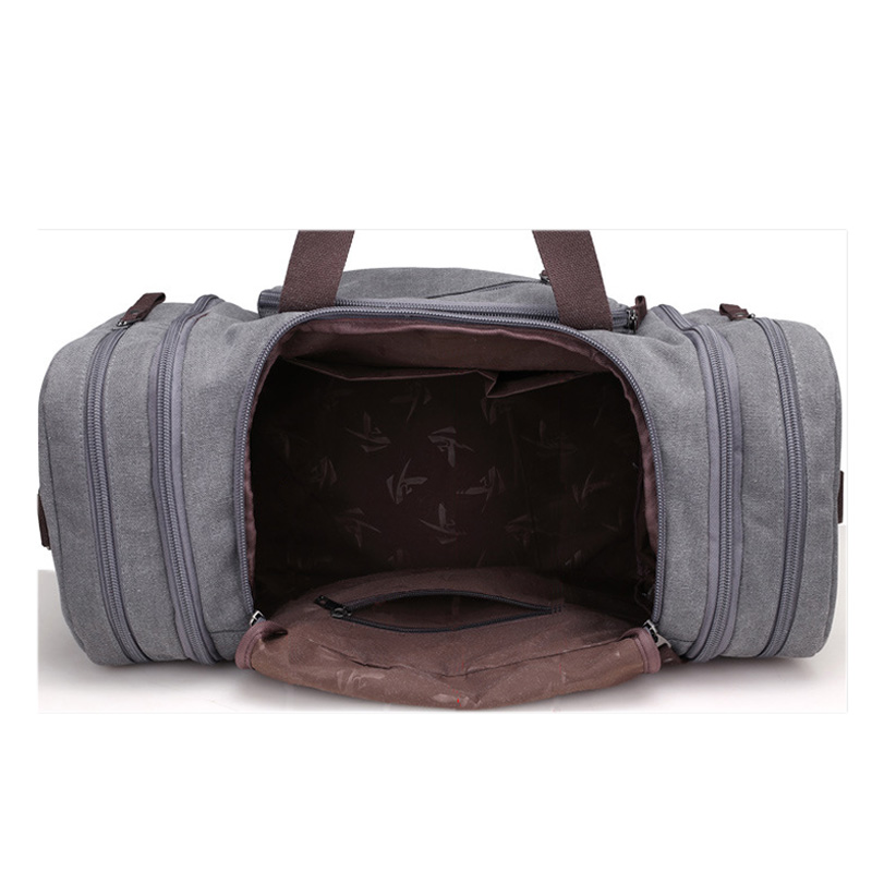 Bolsa de deporte de viaje para hombre de gran capacidad para llevar equipaje de mano, bolsas de lona de viaje, bolsas de viaje, bolsas de gimnasio de fin de semana grandes para hombres - 5