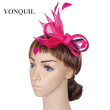 8b5ec5741aa Chic girl cute show fascinator hats elegant ladies women bridal wedding  sinamay headoiece on hair combs