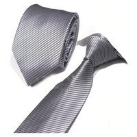 10PCS 8cm New High Quality Solid Classic Mens Ties Formal Tie Stripes Wedding Party Necktie YJC0013