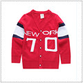 2017 red cotton knitted sweater sweater cardigan children Autumn winter outfit new child v-neck 70 words leisure coat