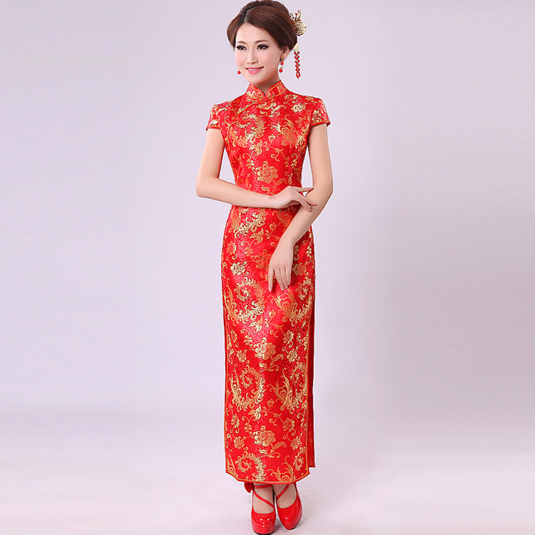 Traditional Red Chinese Wedding Dress Gown And Dress Gallery