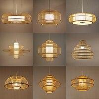 New Chinese Hand Knitting Bamboo Pendant Lights LED Pendant Lamp Living Room Restaurant Corridor Home Indoor Decor Hanging Lamps