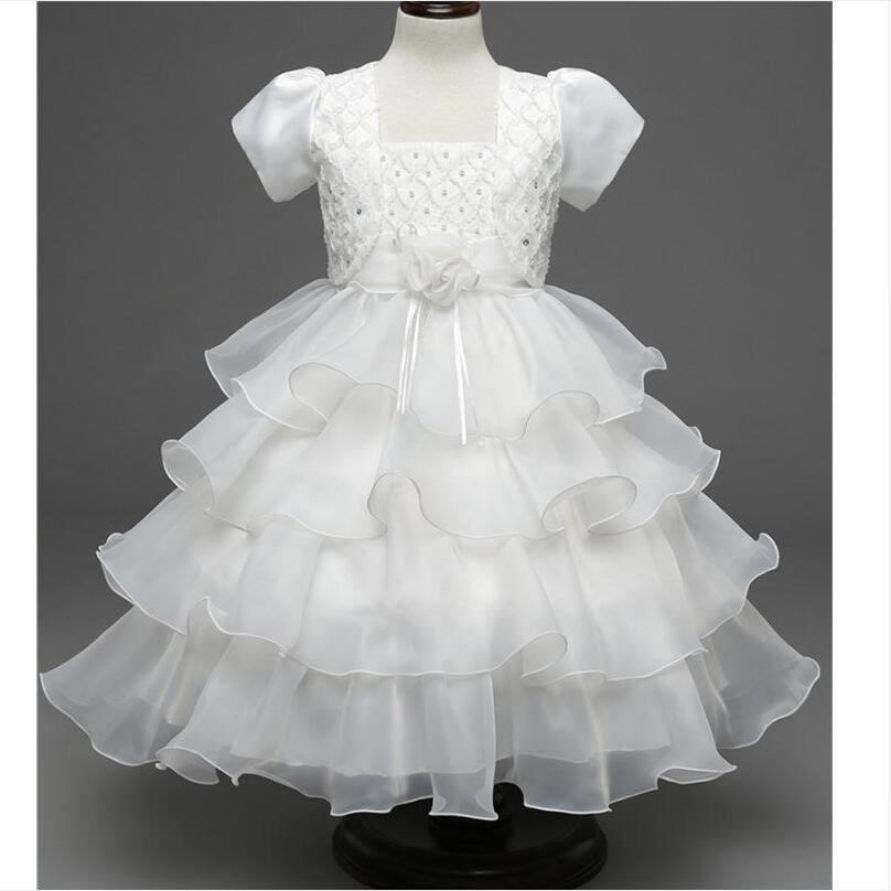 Princess Girl Wedding Dress Tutu Puffy Kids Prom Gown